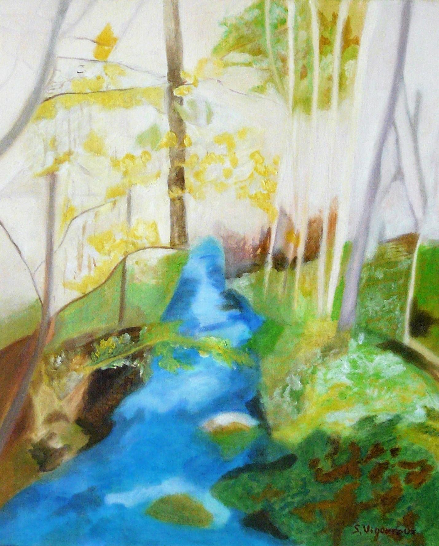 Sandra Vigouroux - Au bord du ruisseau de la Beaume