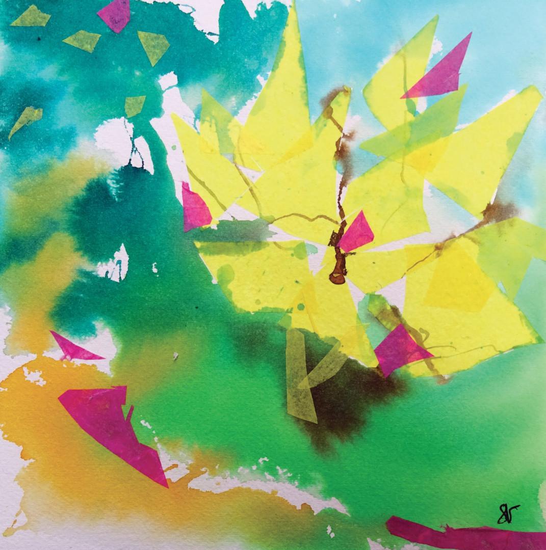 Sandra Vigouroux - L'arbre jaune
